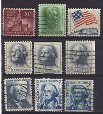 Etats-Unis - 9 timbres oblitérés -