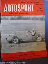 AUTOSPORT FEBRUARY 20 1953 ALBERTO ASCARI ALL COMERS TRIAL REBORN RILEY MONDO