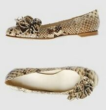 JOHN GALLIANO python leather shoes flats ballerine scarpe donna pitone 37½  (38)