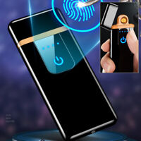 Electric Electronic Lighter Usb Rechargeable Ultra-Thin Touch Screen Windproof