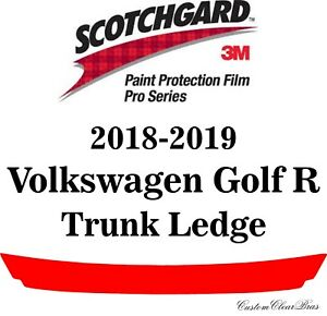 3M Scotchgard Paint Protection Film Pro Series Clear 2018 2019 Volkswagen Golf R