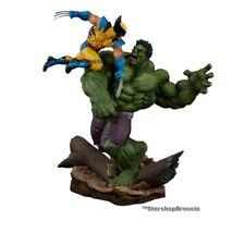 MARVEL - Hulk vs. Wolverine Maquette Statue Sideshow