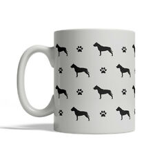 American Staffordshire Terrier Dog Silhouettes Coffee Mug, Tea Cup 11 oz Ceramic