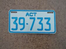 License plate Number plate ACT MOTORCYCLE