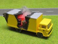 1:87 LKW Ladungsbrand H0 Magirus Deutz Post LED 12V Feuer Laser Cut Patina #19