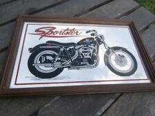 cadre miroir décoratif ancien Moto HARLEY SPORTSTER collection Motard nostalgie
