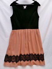 Black & Mauve Sleeveless Cocktail Dress Size Junior Large (11) by Sweet Storm