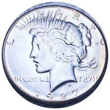 1927 Silver Peace Dollar, Lustrous Excellent Features $1 Philadelphia Mint NR!