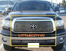 FOR 2010 2011 2012 2013 Toyota Tundra  Billet Grille COMBO Inserts LOGO SHOWN