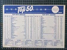 ARIA TOP 40 CHART 21st Oct 1984 single LP record shop FLIER Jimmy Barnes rare
