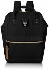 Anello Polyester canvas Unisex Mini Backpack Black Authentic AT-B0193 Japan