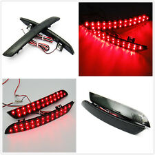 2x Black Smoked Lens 24 SMD LED Bumper Reflector Tail Light For BMW F10 5-Series
