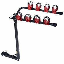 Zeny 4 Bike Hitch Trunk Mount Rack w/ 2 Inch Receiver Bicycle Carrier Rack Hitch