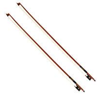 2 Pcs Violin Bow 4/4 Size Brazilwood Octagonal Stick Ebony Frog Horse Hair