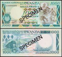 1000 FRANCS 1981 RWANDA / SPECIMEN [UNC / NEUF] P17b
