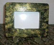 New Unique Handmade 6X8 Picture Photo Memory Frame with Easel Black & Gold