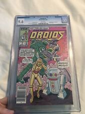 DROIDS #1 ~ Star Wars ~ R2D2 C3PO~ 1986 ~ CGC ~  9.6 ~ Rare Newsstand Edition!