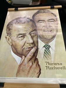 VINTAGE 1968 NORMAN ROCKWELL ART POSTER EUGENE J. MCCARTHY FOR  LOOK MAGAZINE