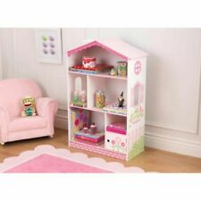 KidKraft Bookcase Dollhouse Cottage Kids Sling Bookcase Book Storage Unit