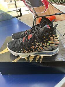 Nike LeBron XVII EP 17 Black James Max Air Men Basketball Shoes WORN ONCE INSIDE