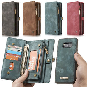 Leather Removable Wallet Flip Case Stand Card Slot For iPhone 11 12 Pro MAX/ S10