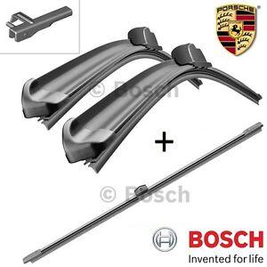 kit SPAZZOLE TERGICRISTALLI BOSCH ANTERIORI + POSTERIORI Porsche Cayenne (92A)