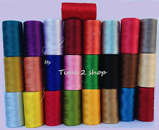 25 x 100% Art Silk Rayon Machine Embroidery Thread Most Demanding Colour Spools