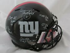 New York Giants Tiki Barber Signed / Autographed  Full Size Speed Helmet STAT
