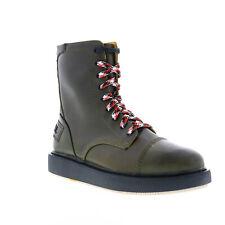 Diesel D-клетка Dbb мужские зеленая кожа на шнуровке повседневные платья сапоги