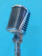Vintage 1950S 60S Astatic 77L Dynamic Microphone & Cable & Stand Working Shure