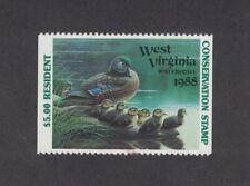 WV2Ah - West Virginia State Duck Stamp.Hunter Type Non Res. Single. MNH. OG.