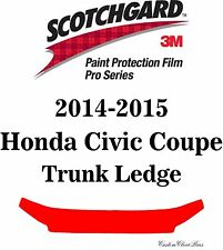 3M Scotchgard Paint Protection Film Pro Series Fits 2014 2015 Honda Civic Coupe