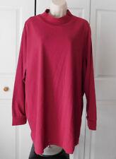 ROAMAN'S Women's Plus Dark Red Stretch Mock Neck Long Sleeve Top Size 3X