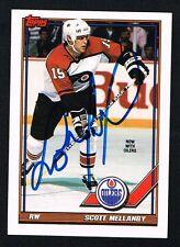 Scott Mellanby #200 signed autograph auto 1991-92 Topps Hockey Trading Card