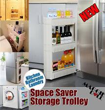 NEW Slim Storage Kitchen Bathroom Laundry Storage trolley Rack Wheel Space Saver