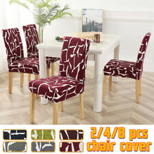 2/4/8Pcs Stretchable Chair Cover Kitchen Dining Seat Cover Restauran Home Decor