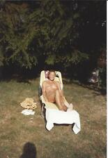 NACKTE FRAU AUF LIEGE, Nudist, Nude, Originalfoto