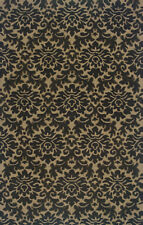 "4x6 Sphinx Damask Handmade Wool Black 89103 Area Rug - Approx 3' 6"" x  5' 6"""