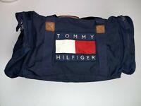 Vintage 90s Tommy Hilfiger  Blue  23.5x12x13 Box Flag Logo Duffle Bag