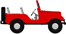 JEEP UNIVERSAL ROJO von arwico, H0 Auto Modelo 1:87 , Brekina 58904