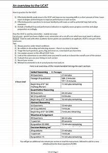 UCAT (UKCAT) NOTES/GUIDE 2021/2022