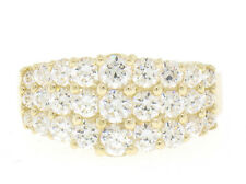 14k Solid Yellow Gold Exceptional Quality Ladies CZ Pyramidal Clustered Ring