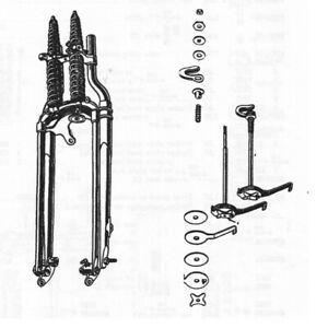 Harley Davidson Springer Front End Steering Damper Kit - NEW - Flathead Knuckle