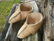MOOSE HIDE WOODLAND STYLE MOCCASINS / LONGHUNTER/ FUR TRADE/ MOUNTAIN MAN !!!!!