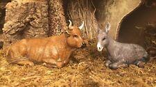 Ox & Donkey Nativity Scene Landi Presepio Burro & Buey para Pesebres