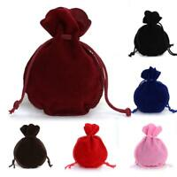 10PCS Velvet Bags Jewelry XMAS Wedding Party Gift Drawstring Candy Bag Pouches