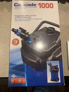 Penn Plax Cascade Cansiter Filter Aquarium 1000 265 GPH Up To 100 Gallon Durable