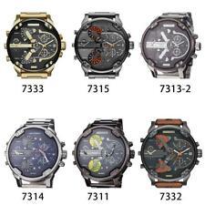 Armbanduhr Herrenuhr Leder Edelstahl Chronograph Analog Quarz Uhr NEU