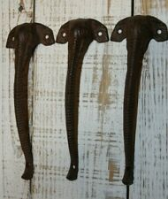 "(3) Elephant Pulls Cast Iron Hardware 8 5/8"", For Doors Cabinets, Gates, Hw-98"