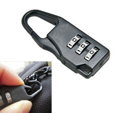 New Black Mini 3 Dial Number Code Padlock Combination Luggage Lock Password